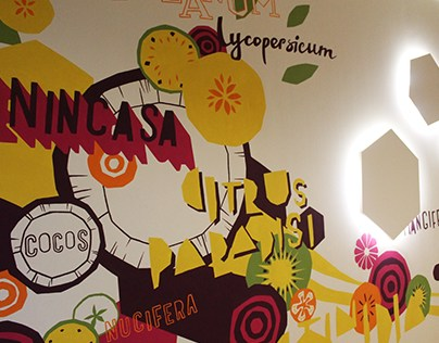 DC Storm office juice bar mural