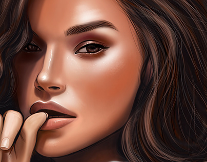 Girl portrait, bitmap, digital drawing