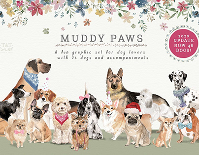 Muddy Paws- Dog Lover Graphics