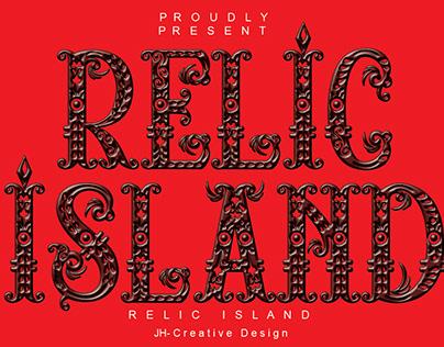 font relic island