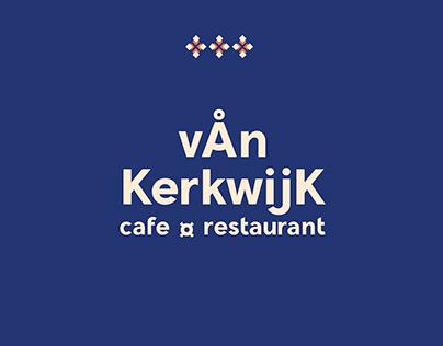 Creación de identidad para Van Kerkwijk cafe