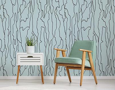 tree bark wallpaper print design