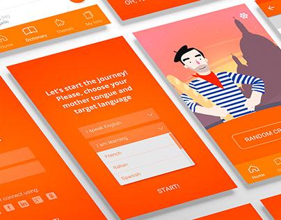 UX & UI design for Lexica app