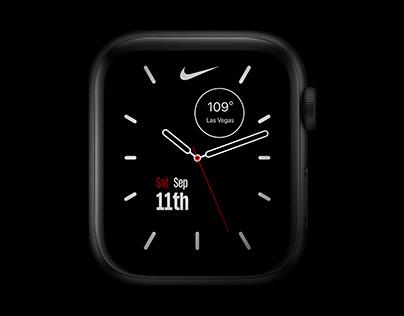 Nike Apple Watch Face UI Design