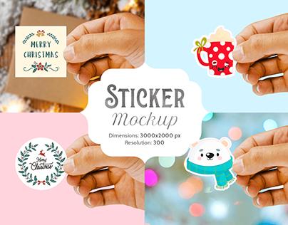Sticker mockup | 1 PSD file