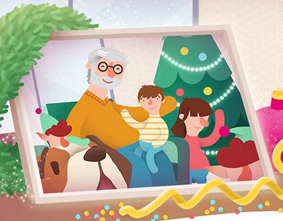 Advent Calendar for Telekom Smarthome // Illustrations