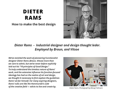 Dieter Rams. How to make the best design