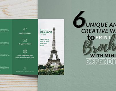 print brochure with minimal expenditure