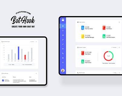 BotHook UIUX - Minimal WebApp Design for Chat Bot