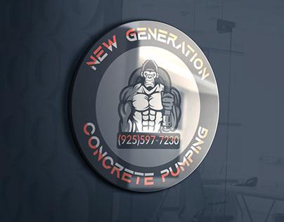 New Generation Concrete Pumping Logo Design