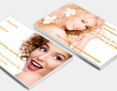 Визитка стилист визажист / Business card style makeup
