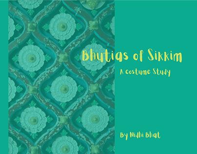 Bhutias of Sikkim, a costume study