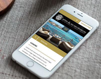 Responsive website for Luxury Hotel-Corsica