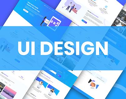 UI Design for Creative Digital Agency (COCOICE)