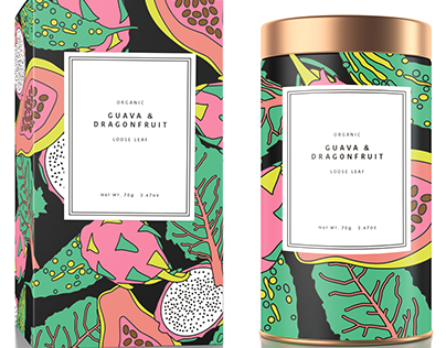 Organic Tea Packaging Design - illustration, design