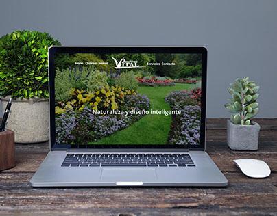 Jardines Vital website