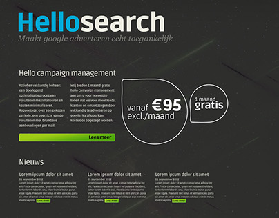 Hellosearch webpage design options