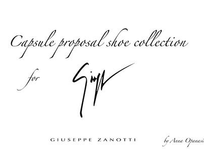 "Capsule proposal collection for ""Giuseppe Zanotti"""