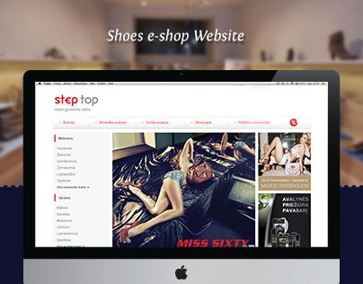 Shoes e-shop website (@IndigoKids)