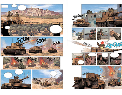 "Comic/Strip ""Krieg Machine"""