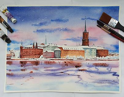 Watercolor on Paper - Landscape