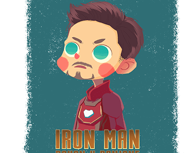 Iron man anime art