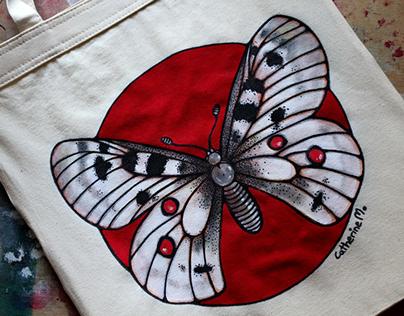 Niepylak apollo - torba ekologiczna