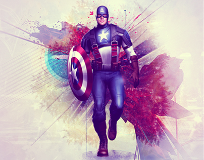 Captain America - Mixed Art