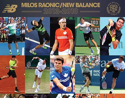 Milos Raonic/New Balance Tennis 2013-2018