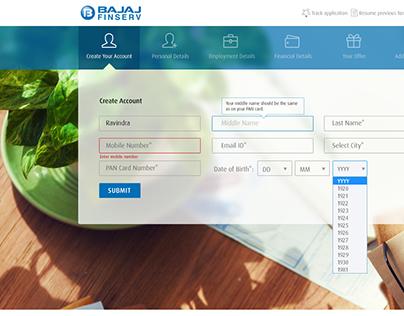 Web App for Bajaj Finserv - Online Loan Application