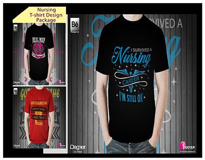 Nursing T-Shirt Design Bundle.