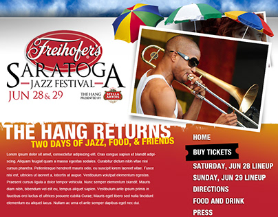 Freihofer's Saratoga Jazz Festival Microsite