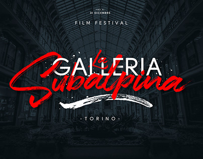 La Galleria Subalpina - Film Festival - Graphic Poster