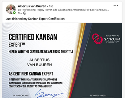 Scrum Institute's Economical Kanban Certifications