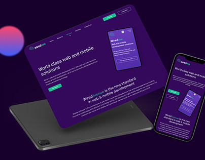 Web and mobile development company — Home page