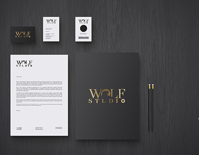 Wolf Studio logo design