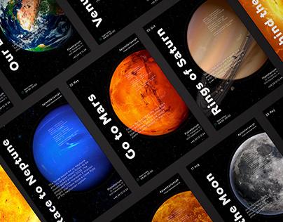 Planetarium Poster Series