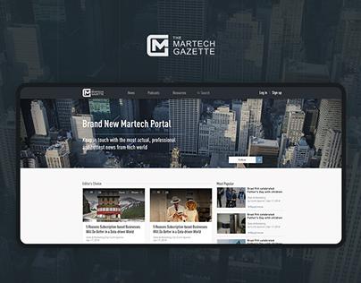 Martech Gazette Web Site Design, News Portal