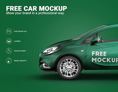 Free Opel Corsa Car Mockup Sample