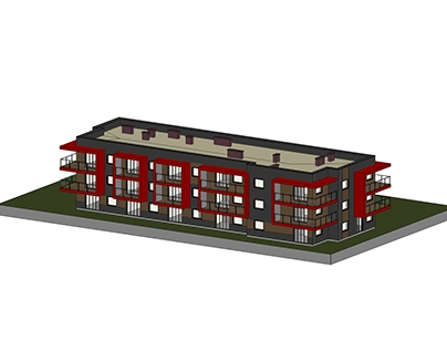 The project of a multi-family house other solution.