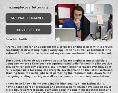 Example cover letter on Behance