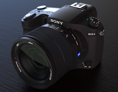 Sony Cyber-shot RX10 III | 3D Model and Rendering