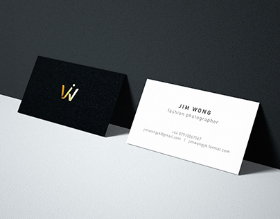 Personal identity for Jim Wong | Business Card Design