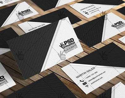 Black&White Business Card – Free PSD Template