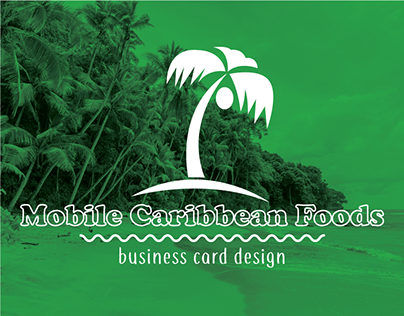 Mobile Caribbean Foods Business Cards