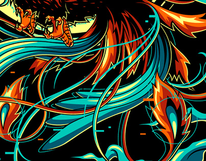 Glitched Phoenix
