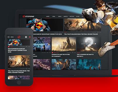 Stopgame.ru, game portal web-design