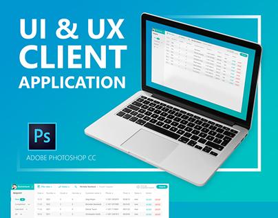 UI & UX client application