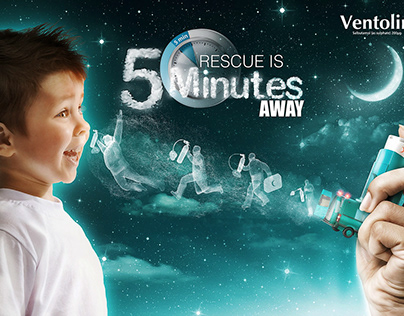 Rescue is 5 minutes away Ventolin