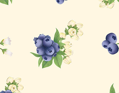 Blueberry Garden Print